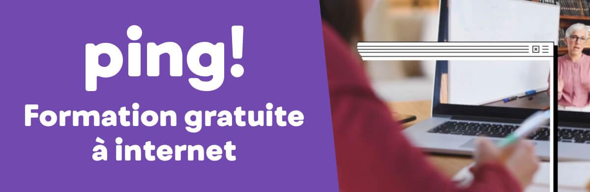 ping, formation gratuite à internet