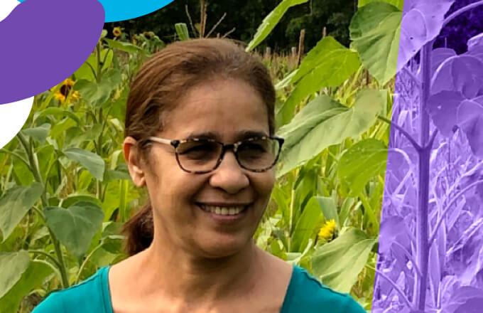 Fatima Hamza, comptable de projet, poste 225
